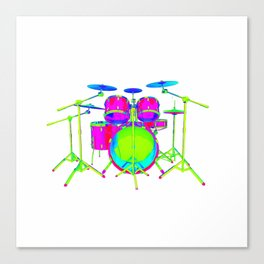 Colorful Drum Kit Canvas Print