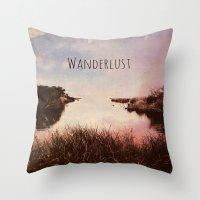 wanderlust Throw Pillows featuring Wanderlust by Brianne Lanigan