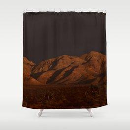 Desert Alpenglow - II Shower Curtain