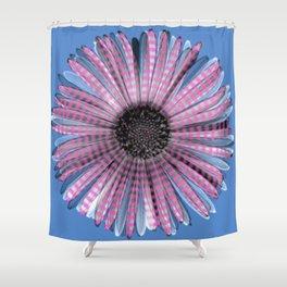 Urban daisy wearing street-cred stripes Shower Curtain