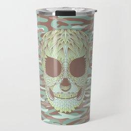 camouflage skull Travel Mug