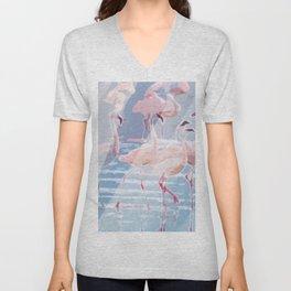Flamingo Beach Unisex V-Neck