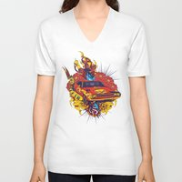 muscle V-neck T-shirts featuring Muscle by Tshirt-Factory