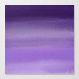 Modern painted purple lavender ombre watercolor Canvas Print