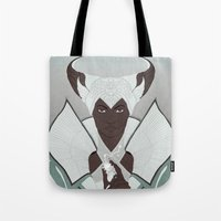 dragon age Tote Bags featuring Dragon Age: Vivienne by Couple Of Kooks