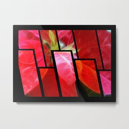 Mottled Red Poinsettia 2 Tinted 1 Metal Print