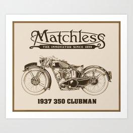 Matchless vintage motorcycle Art Print