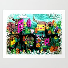 Color in the City Art Print