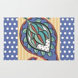 Blue Paisley Rug