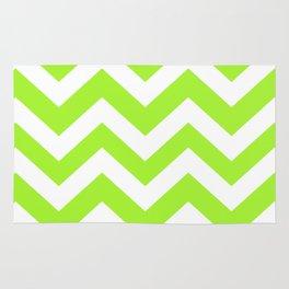 Green Lizard - green color - Zigzag Chevron Pattern Rug