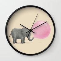 bubble Wall Clocks featuring Jumbo Bubble Gum by Terry Fan