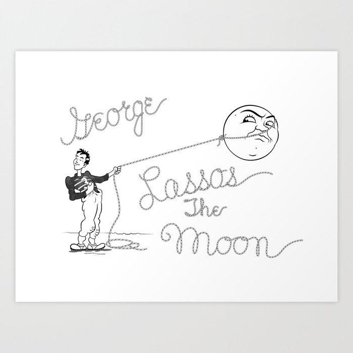 It's a Wonderful Life - George Lassos the Moon Kunstdrucke