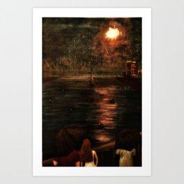 Nashville fireworks rain or shine Art Print