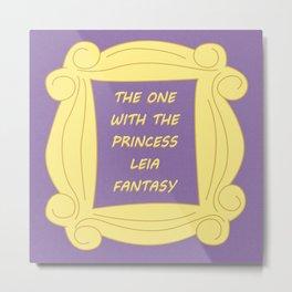 the One With the Princess Leia Fantasy - Season 3 Episode 1 - Friends - Sitcom TV Show Metal Print