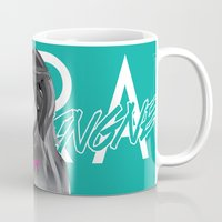 cara delevingne Mugs featuring Cara Delevingne by Dik Low