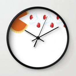 Pumpkin Pie Thanksgiving Wall Clock