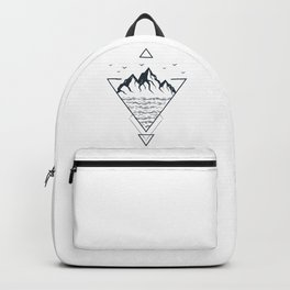 Nature. Mountains. Double Exposure. Geometric Style Backpack