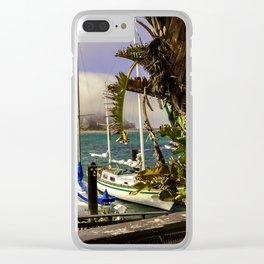 Tropical Morro Bay Clear iPhone Case