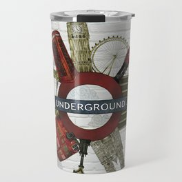 Around London digital illustration Travel Mug
