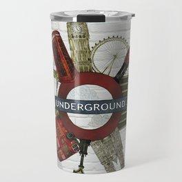Around London digital illustration Travel Mug