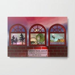 the future travel agency Metal Print