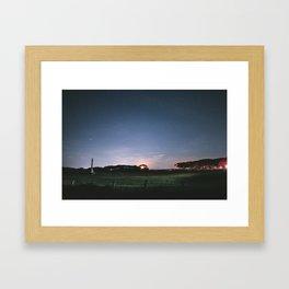Moonset Reworked Framed Art Print