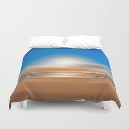 Vibrant Sunset Motion Blur Duvet Cover