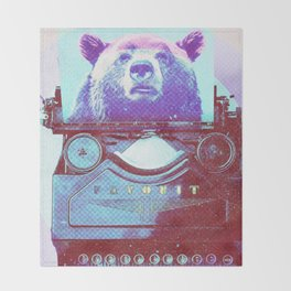 Grizzly writer Throw Blanket