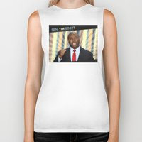 tim shumate Biker Tanks featuring Tim Scott by politics
