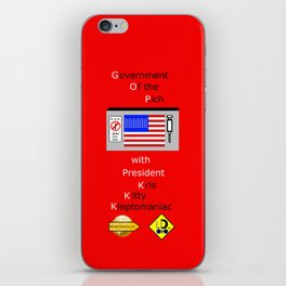 G. O. P. with President Kleptomaniac iPhone Skin
