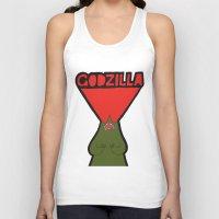 godzilla Tank Tops featuring Godzilla by evannave