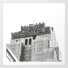 New Yorker Building // New York // Black and White Photography Art Print
