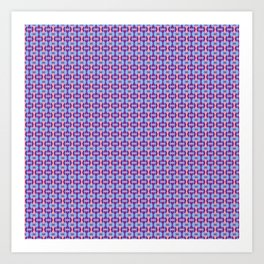 Pink, Purple, and Blue Low Poly Pattern Art Print