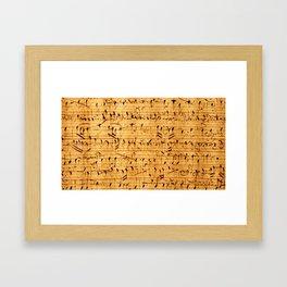 Unicorn in Music Framed Art Print