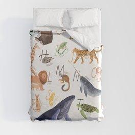 Animal Alphabet Duvet Cover