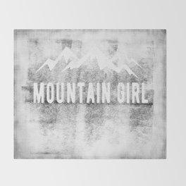Mountain Girl Throw Blanket