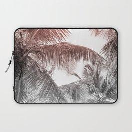 High palms on a tropical beach Laptop Sleeve