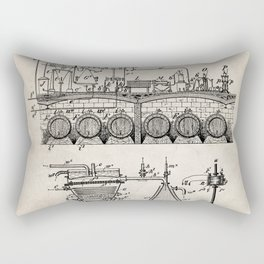 Brewing Beer Patent - Beer Art - Antique Rectangular Pillow