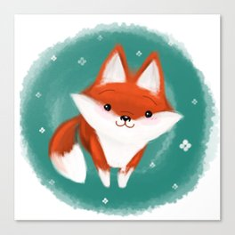 Fox in the wood Canvas Print