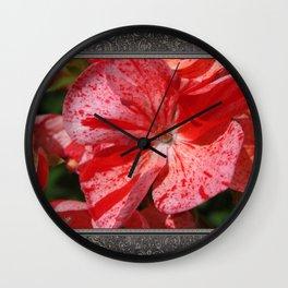 Zonal Geranium named Mosaic Red Wall Clock
