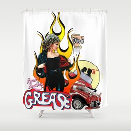 Grease 40th Anniversary Olivia Newton-John - John Travolta Shower Curtain