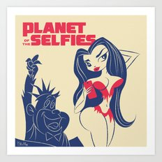Planet of the Selfies Art Print