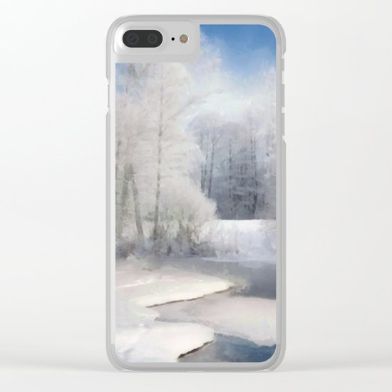 White silence Clear iPhone Case