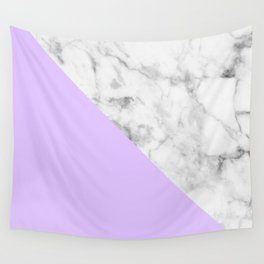 White Marble & Purple Wall Tapestry