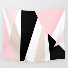 Blush Mod Triangles 2 Wall Tapestry