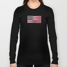 USA Baseball Flag Long Sleeve T-shirt