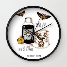 black chandelier Wall Clock