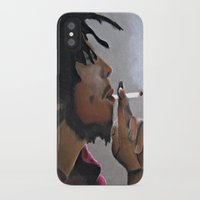 marley iPhone & iPod Cases featuring Marley Portrait by Samaa Ahmed