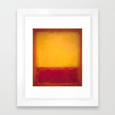 Mark Rothko - Yellow over Purple Framed Art Print