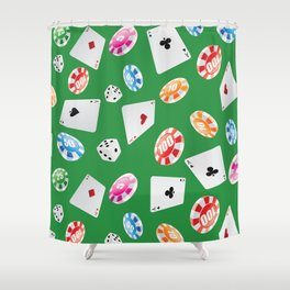 #casino #games #accessories #pattern 4 Shower Curtain
